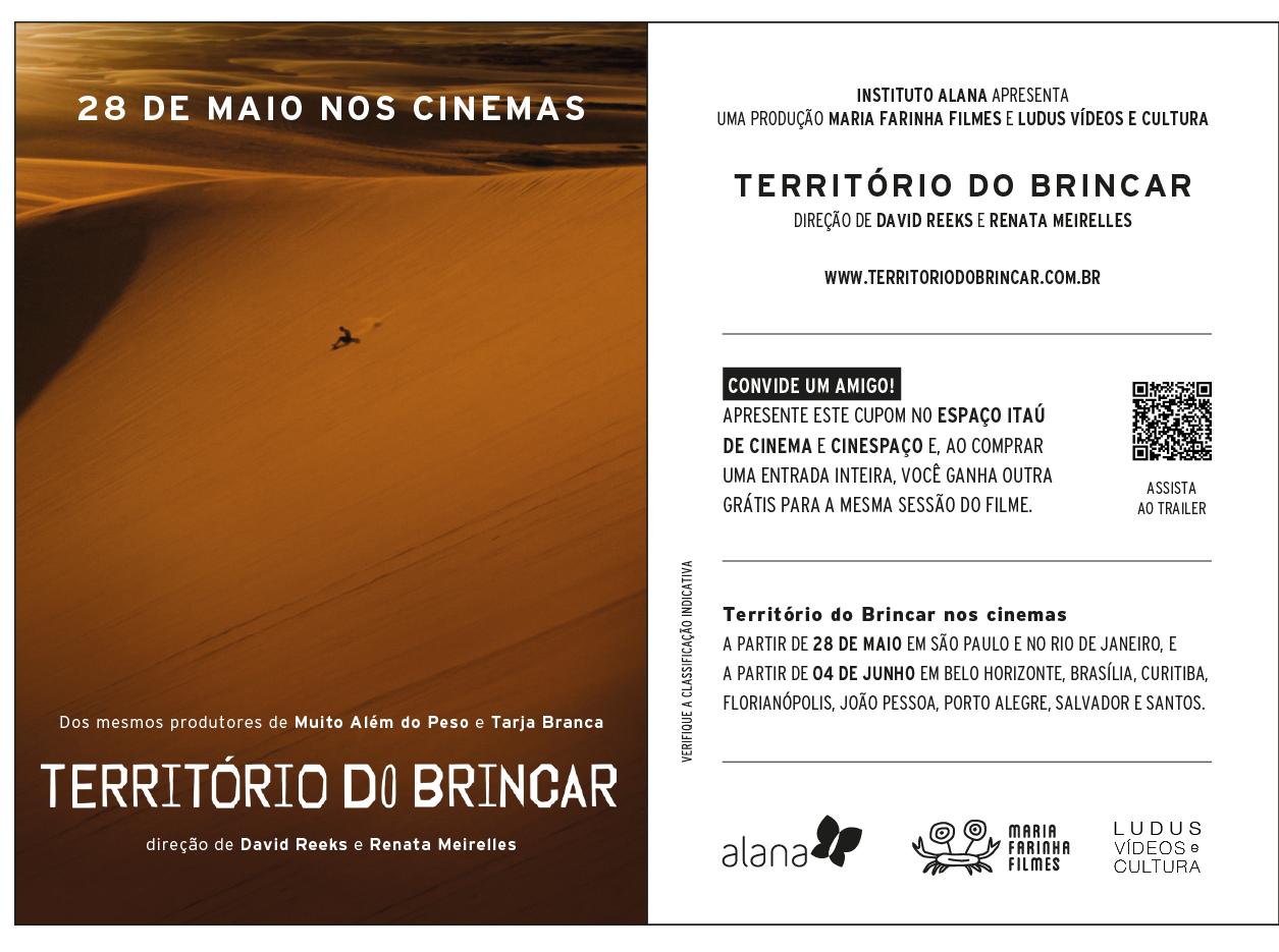 Lançamento oficial do documentário Território do Brincar entra na programação da Semana Mundial do Brincar