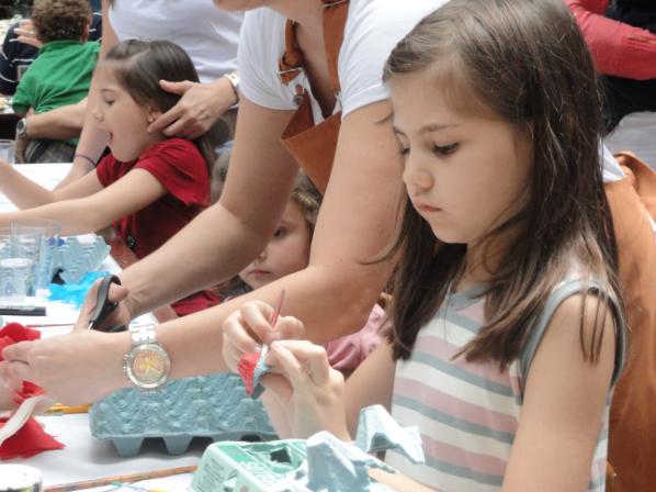 Oficinas de construção de brinquedos nas férias de julho do Chácara Santa Cecília