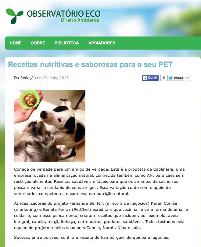 Receitas nutritivas e saborosas para o seu PET