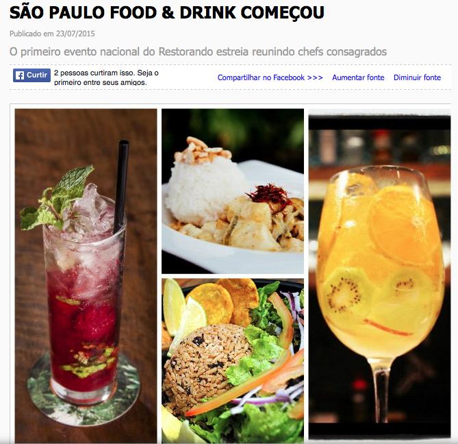 SÃO PAULO FOOD & DRINK COMEÇOU