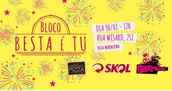 Mística Pizza participa de pré-carnaval na Vila Madalena