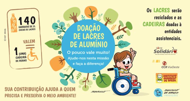Chácara Turma da Mônica participa da campanha Lacre Solidário