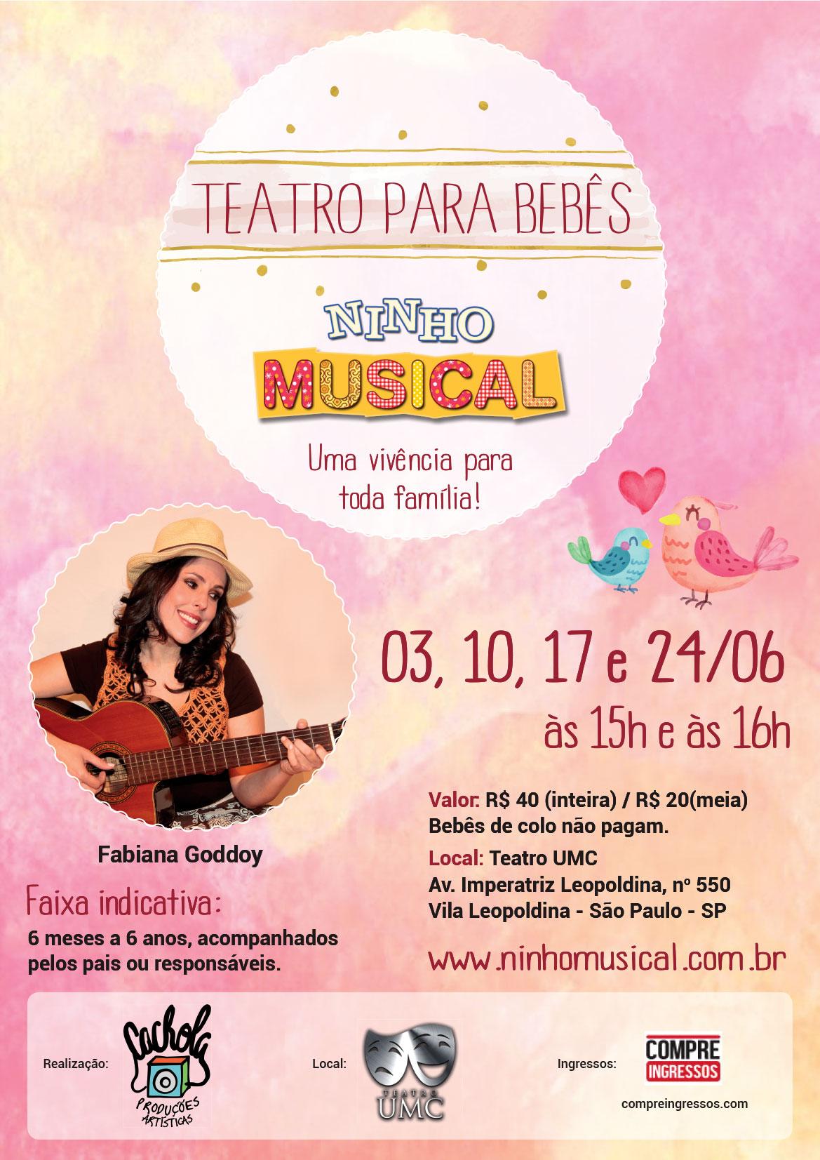 """Teatro para bebês """"Ninho musical"""" estreia em São Paulo"""